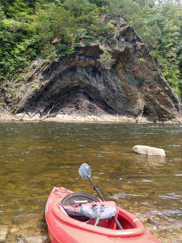Rock formations along Cacapon River