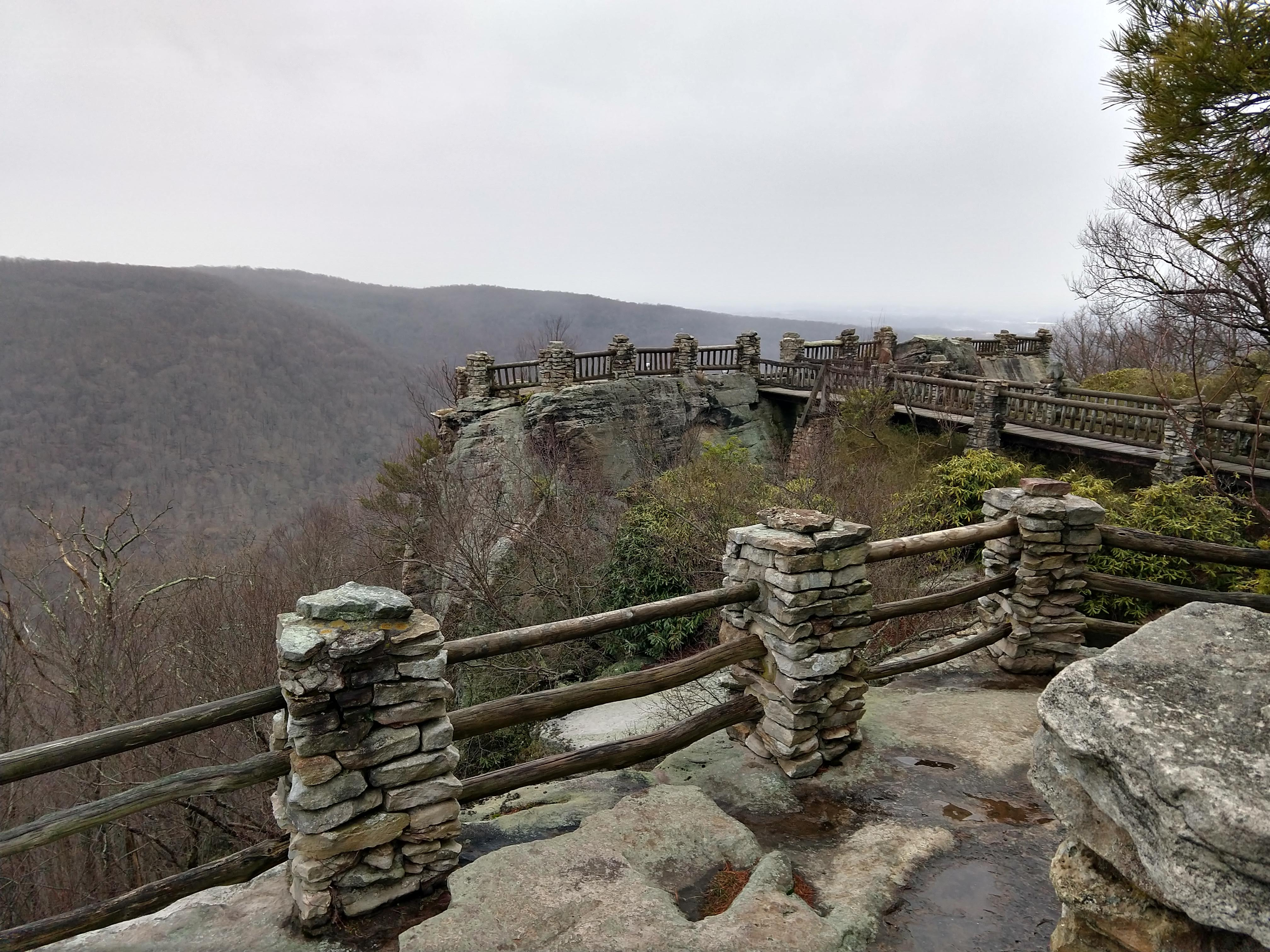 Overlook at Cooper's Rock State Forest in winter